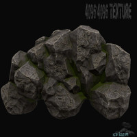 3d mountain rock mount model
