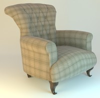 armchair fabric 3d fbx