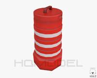 street barrier pbr 3d model