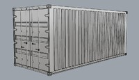 3d container 20 model