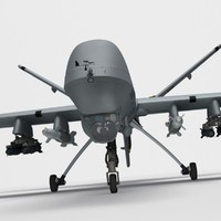3d model of mq-9 reaper military aircraft