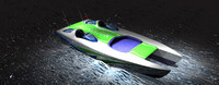 3ds max 11m speed boat catamaran