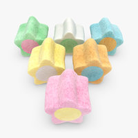 3d model marshmallow v4 6 colors