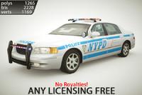 generic police sedan v1 3d max