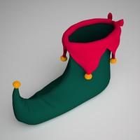 christmas shoe 3d fbx