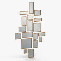 christopher guy cubic mirror 3d c4d