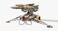 3d model hawk missile launcher