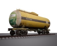 railway tank car 3d model