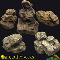 3d model of rock pack