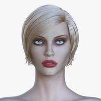 3d realistic supermodel nadja model