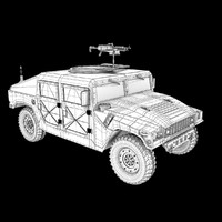 Humvee with turret gun