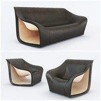 3d model split sofa chair alex