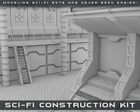 sci-fi construction kit 3d model