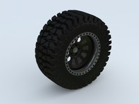 maya rock crawler wheel tyre