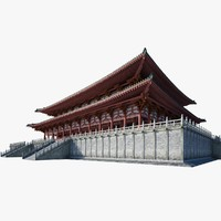 3d chinese architectural palace model