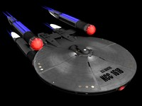 uss galactica galactic 3d model