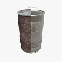 3d model of old new barrel