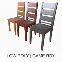 simple dining room chair 3d model