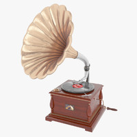 3d obj record player gramophone