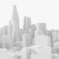 Schematic, low poly city