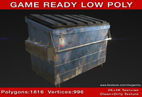 dumpster ready games modeled 3d obj
