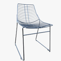 3d model of chair metalmobil net furniture