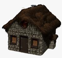 zbrush house 3d model
