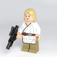 luke lego 3d model