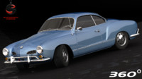 3d model volkswagen karmann ghia 1967