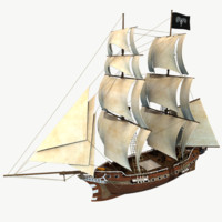 3d old sail ship