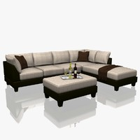 sectional sofa set obj