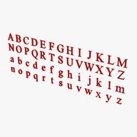 new roman letters 3d max