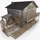 western house 3D models