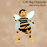 3d model rig bee character