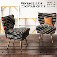3d model bartholomew cocktail chairs 1950s
