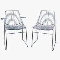 chair steel metalmobil net 3d model