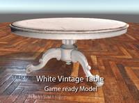 table vintage 3d model