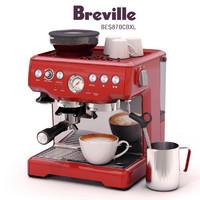 breville barista express bes870cbxl 3d max