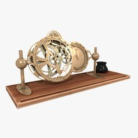 3d model table clock