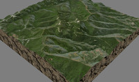 mesh tepusquet peak 3d model