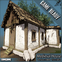 ready medieval house fantasy 3d obj