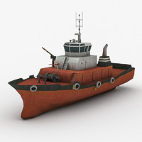 3d tugboat tug boat model