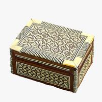 3d model realistic ivory box