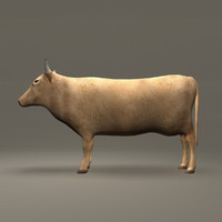 Cow Lowpoly Brown