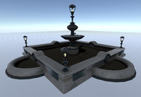 set fountain 3d fbx