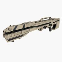 3d sci-fi rifle