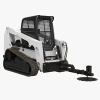 3ds max compact tracked loader brush