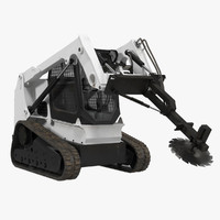 maya compact tracked loader brush