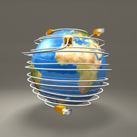 ethernet cables globe obj