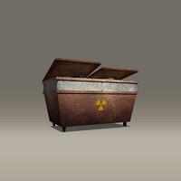 steel dumpster 3d model